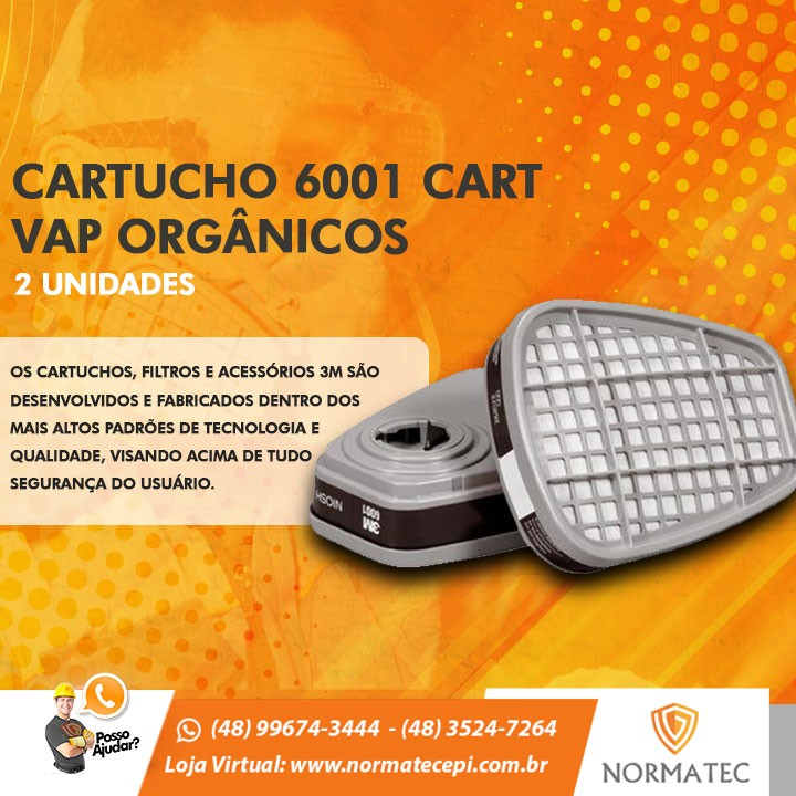 CARTUCHO 6001 CART VAP ORGÂNICOS - (2 UNIDADES)