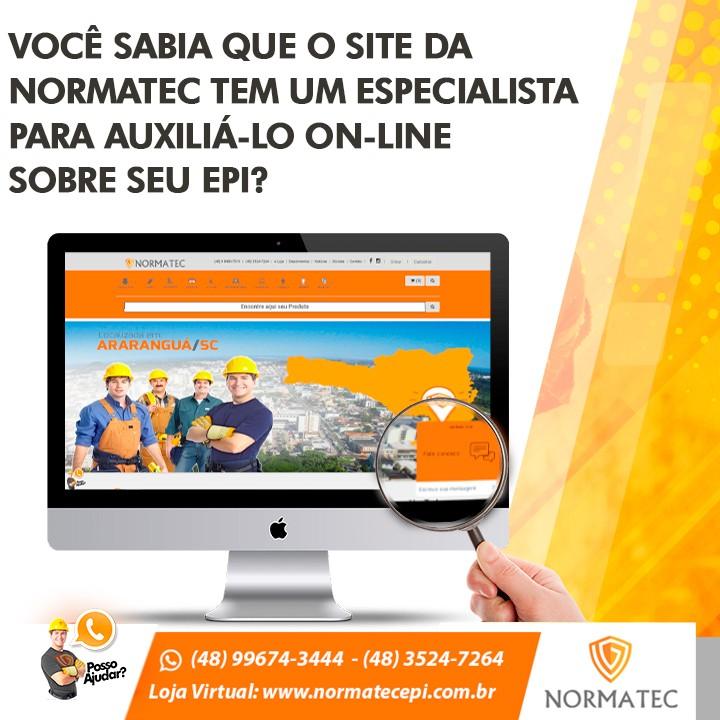 Você sabia que o site da Normatec tem um especialista para auxilia-lo on-line sobre seu EPI